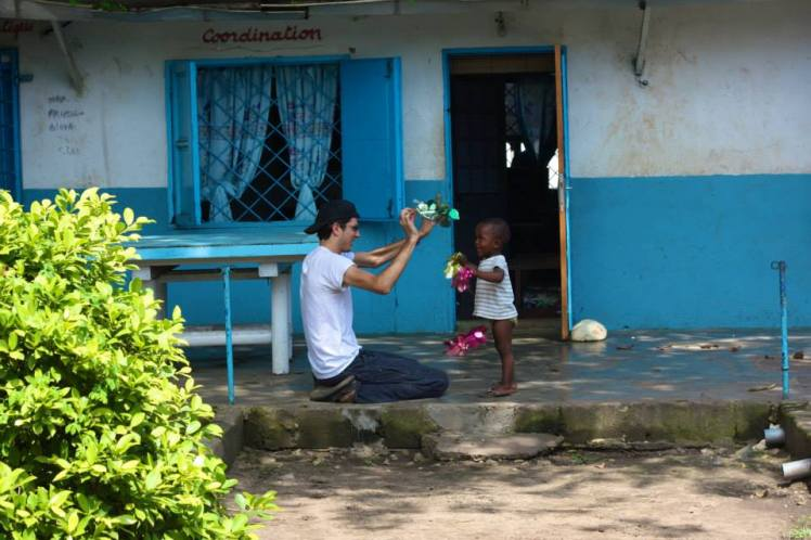 Playing with Leonardo in Congo on Christmas of 2014 - Cred: Elza