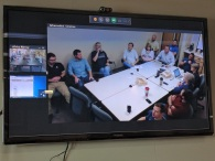 Video conference between Texas and ship I.S. department.